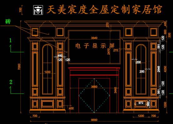 装饰设计CAD图纸之门脸设计