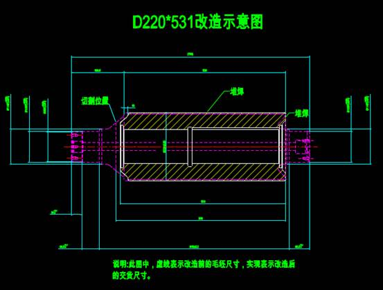 CAD机械零部件图纸之中改短设计
