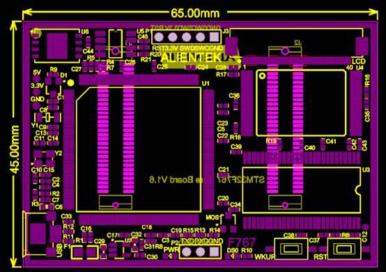 电子电工CAD图纸之核心板尺寸图