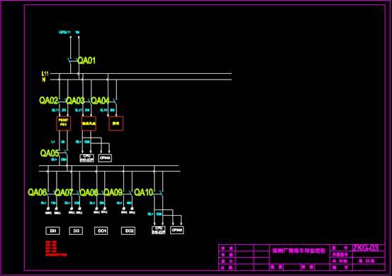 电子电工CAD图纸之自控柜设计