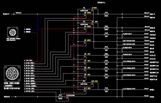 电子电工CAD图纸之清盛PDU原理设计