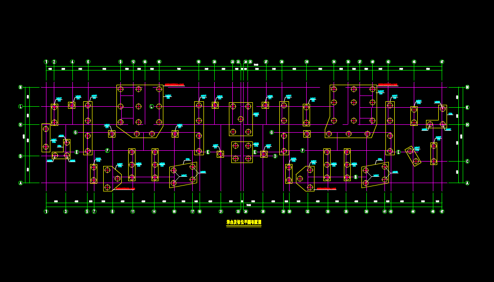 CAD结构设计图-桩号示意图