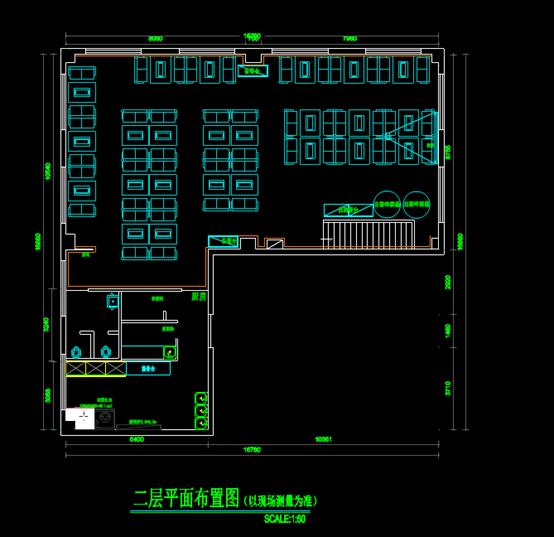 某建筑二层CAD平面图