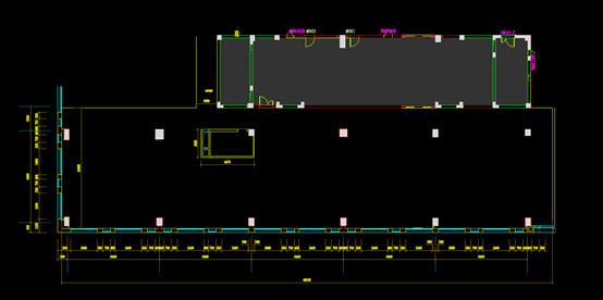某建筑九楼的CAD平面布置图