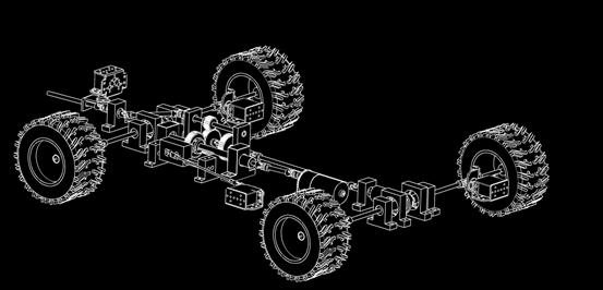 机械设备CAD图纸-底盘轴测工程图d