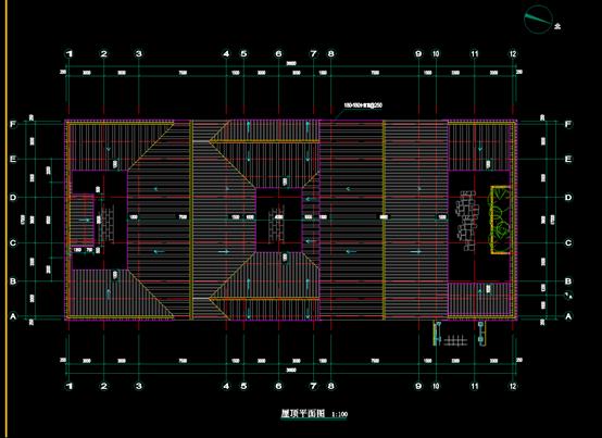 某古建筑的CAD平面图
