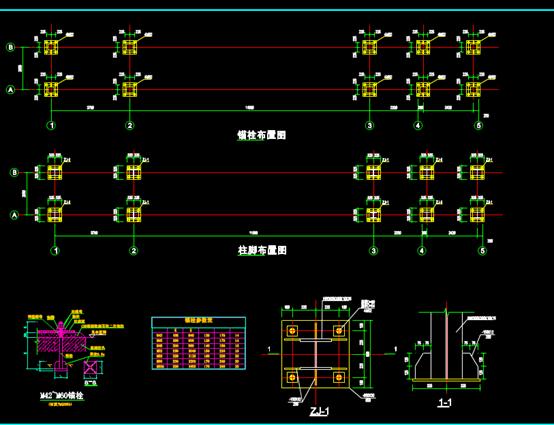 大门钢CAD结构施工图