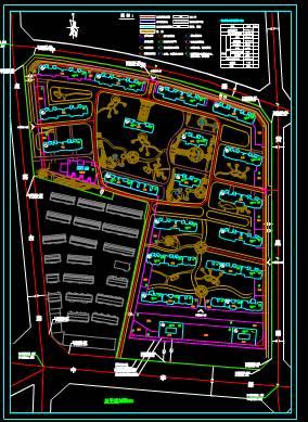 小区住宅地块城市规划CAD平面图