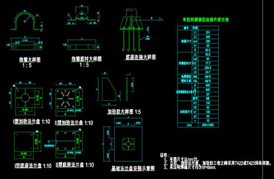 标志杆的CAD结构设计图