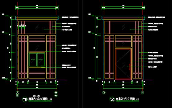 CAD建筑制图图纸-西入口详图.