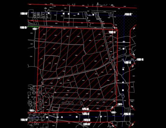 某市房地产公司222亩土地城市规划CAD平面图