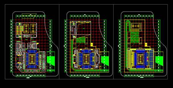 CAD建筑设计图中体育馆方案