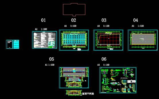 CAD建筑设计图中羽毛球馆方案