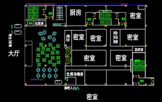 普通商铺的CAD建筑设计图