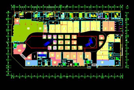 某建筑一层商业空间CAD图纸