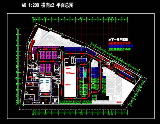 地库商铺的建筑工程CAD制图