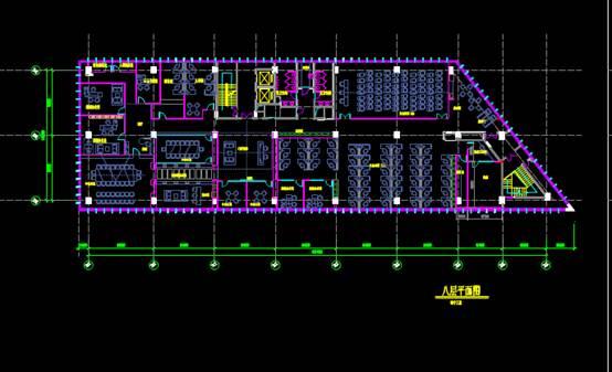 建筑工程CAD制图中的机房平面