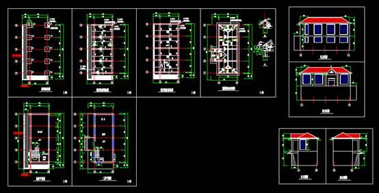 整栋CAD建筑结构设计图纸