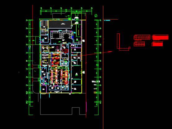 某建筑的CAD平面设计图