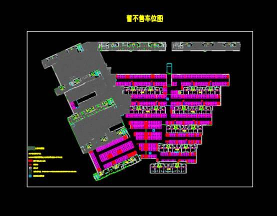 车位的建筑工程CAD制图