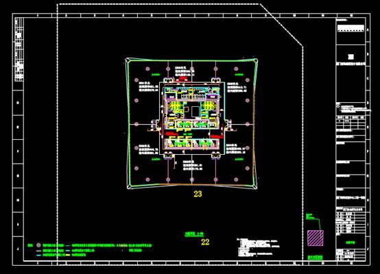 室内设计CAD绘制面积详图