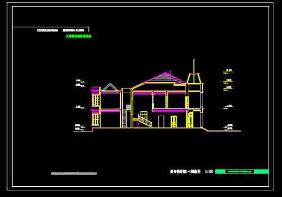 领事馆的CAD建筑结构设计图