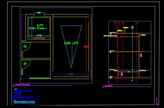 汽车升降机的CAD机械设计图纸