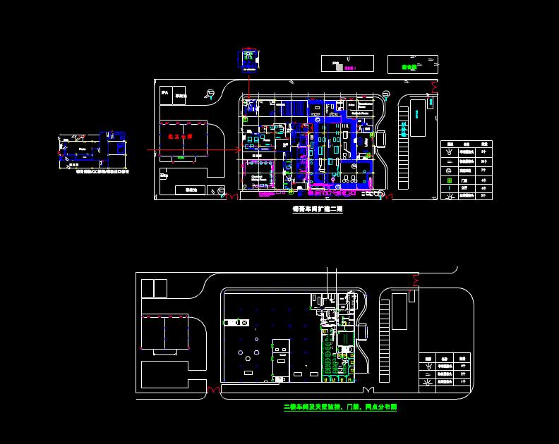 锡膏车间扩建CAD标准电气图纸