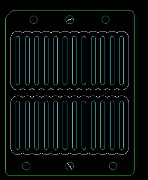 音量键落料模具CAD机械设计图纸