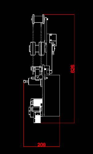 瑕疵贴标机侧视图机械CAD图纸怎么看