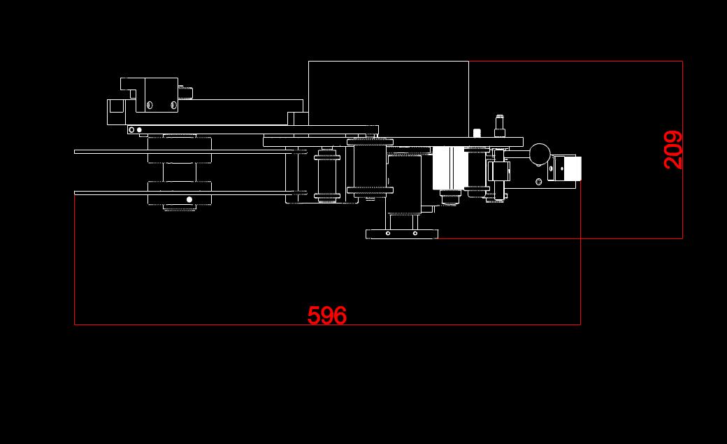 瑕疵贴标机俯视图机械CAD图纸怎么看