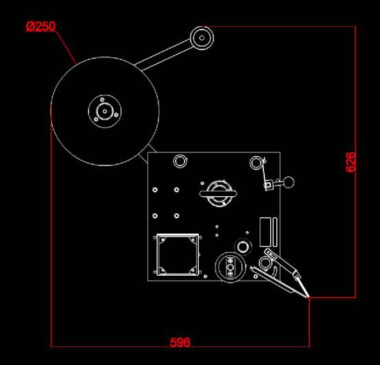 瑕疵贴标机正视图机械CAD图纸怎么看
