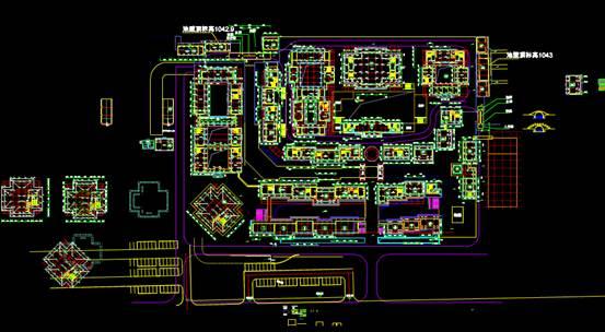 某小区规划总图CAD图纸绘制