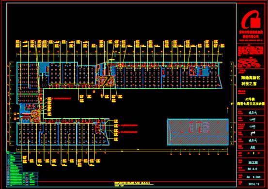 装饰设计CAD图纸之楼层平面图
