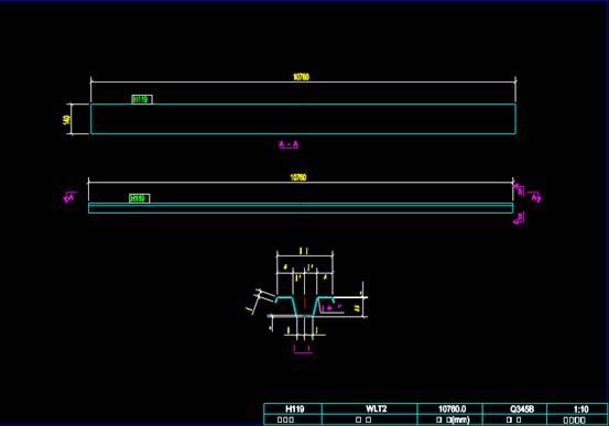 CAD机械零部件图纸之剖面设计