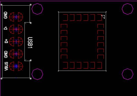 电子电工CAD图纸之USB接口设计