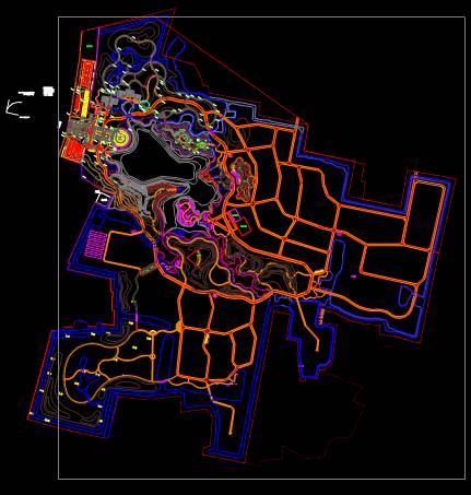 CAD景观素材之庄园设计