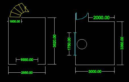 CAD建筑施工图纸之租房平立面图