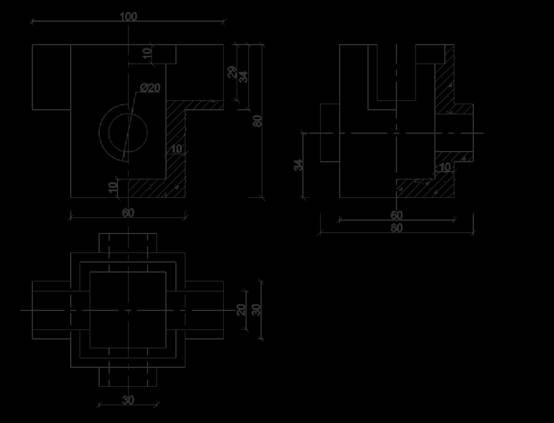 净化池设计CAD给排水图