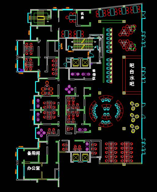CAD建筑设计图之水吧