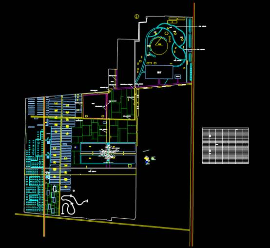 CAD建筑布局图之农业二期大棚中间景观