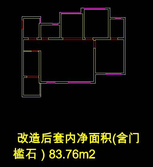 CAD建筑布局图之南湖逸家改造后平面图