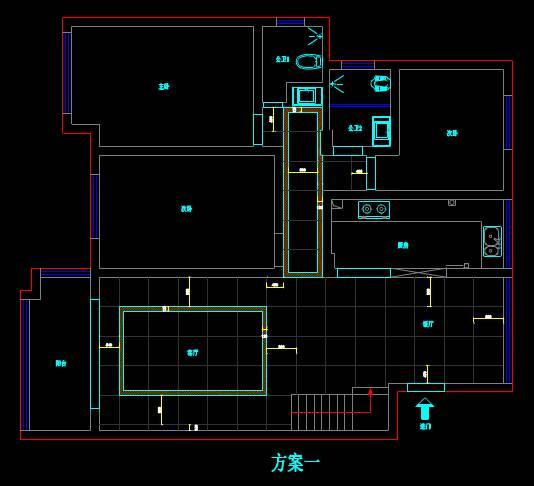 某房屋的CAD室内设计方案