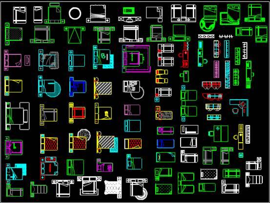 CAD室内设计方案常用图块