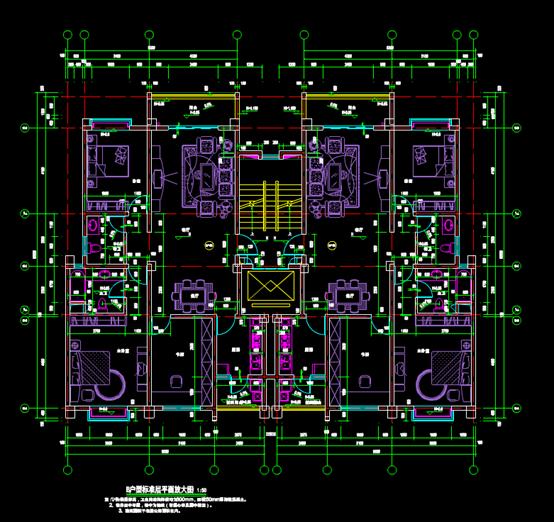 某住宅的CAD建筑户型图设计