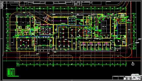 某会所的CAD电力控制布置图