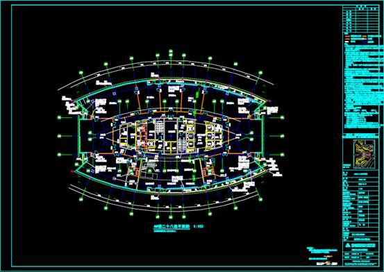 CAD办公建筑设计图之楼层设计图