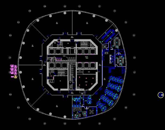 商业建筑CAD平面图之标准层布置