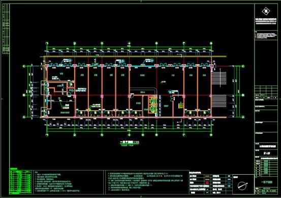 宾馆酒店建筑CAD图纸之平面布置图