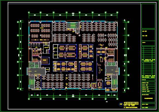 CAD办公建筑设计图之总平面图